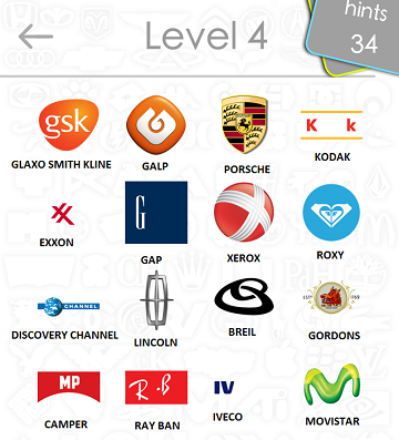 Logos Quiz Game Answers: Level 4 Part 4 – For iPod, iPhone, iPad
