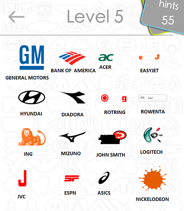 Logos Quiz Level 5 Answers: