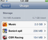 App Space Usage - How to Free Up Space on Ipod Touch