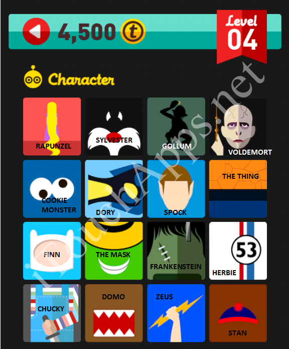 Icon Pop Quiz Character Quiz Level 4 Part 3 Answers / Solutions