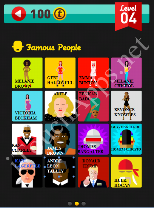 Icon Pop Quiz Game Famous People Quiz Level 4 Part 2 Answers / Solutions