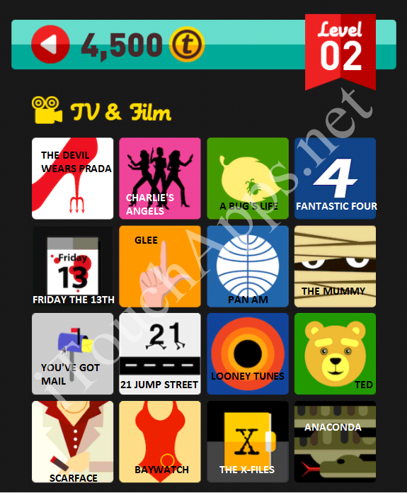 Icon Pop Quiz Game TV & Film Quiz Level 2 Part 2 Answers / Solutions