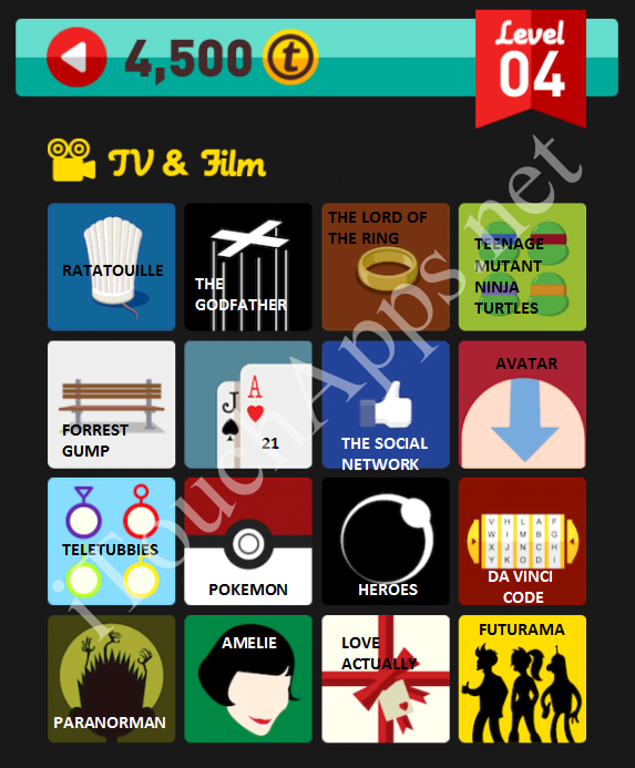 Icon Pop Quiz TV & Film Quiz Level 4 Part 1 Answers / Solutions