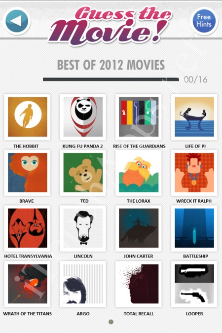 Guess the Movie Answers Best of 2012