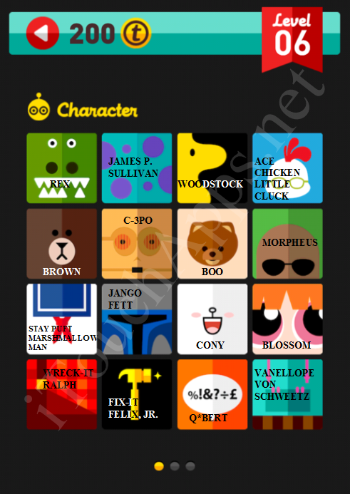 Icon Pop Quiz Characters Level-5